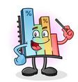 bar graph chart cartoon character vector image vector image