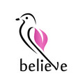 believe- cute little bird vector image vector image