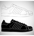 Black and white sneakers set vector image vector image