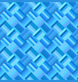 blue geometrical diagonal rectangle tile mosaic vector image vector image