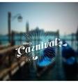 blurred Venice landscape vector image