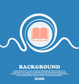 Book icon sign Blue and white abstract background vector image vector image