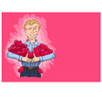 boy who is stunned by hickeys bears hearts of girl vector image vector image