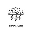 brain brainstorming idea creativity vector image vector image