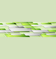 bright shiny green technology geometric abstract vector image vector image