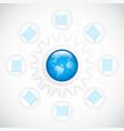 business gear diagram vector image vector image