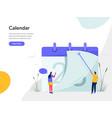 calendar concept modern flat design concept of vector image vector image