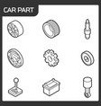 car part outline isometric icons vector image vector image