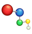 chemical molecule icon cartoon style vector image vector image