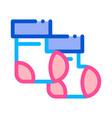 child basocks icon outline vector image vector image