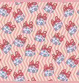 christmas seamless background pattern of gift vector image vector image