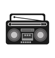 classic boombox icon vector image