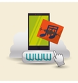 Cloud computing design Media icon Isolated vector image vector image