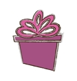 color gift box ribbon parcel shopping sketch vector image vector image