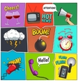 Comic Books Colorful Panels Design Set vector image vector image