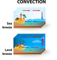 Con Land Breeze and Sea Breeze vector image vector image