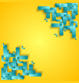 Corporate technology yellow background with cyan vector image vector image