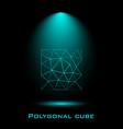 cube lines molecular lattice geometric shape vector image