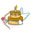 cupid birthday cake character cartoon vector image vector image