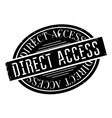 Direct Access rubber stamp vector image vector image
