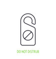 do not disturb sign outline icon hotel door sign vector image vector image