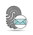 finger print email icon design vector image vector image