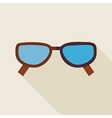 Flat Fashion Accessory Glasses with long Shadow vector image