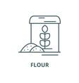 flour line icon linear concept outline vector image vector image
