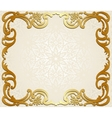 Frame on lace background vector image vector image