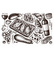 french cuisine dishes and ingredients collection h vector image vector image
