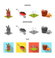 garden plot ecology and other web icon in vector image
