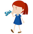Girl gesturing to stop using noise vector image vector image