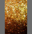 golden glitter texture on black background vector image