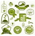 Green eco labels vector image vector image