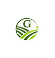 green project solution center initial g vector image vector image