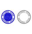 grunge natural juice textured stamp seals vector image vector image