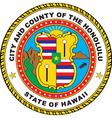 Hawaii City Seal vector image vector image