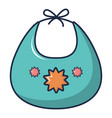 kid bib icon cartoon style vector image vector image