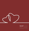 Laconic design of couple hearts for design card on vector image vector image