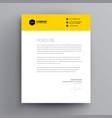 letterhead design template and mockup minimalist vector image vector image