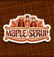 logo for maple syrup vector image vector image