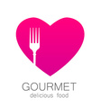 lovely food logo template vector image vector image