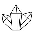 magic crystal icon outline style vector image