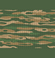 military camouflage army camo textile texture vector image