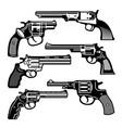 monochrome retro weapons vector image