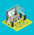 music festival concept 3d isometric view vector image vector image