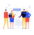 new year 2020 celebration flat design style vector image