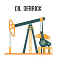 oil derrick for natural product extraction vector image vector image