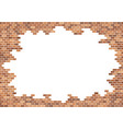 old brick wall background red bricks texture vector image vector image