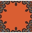 Ornamental round frame in tribal orintal style vector image